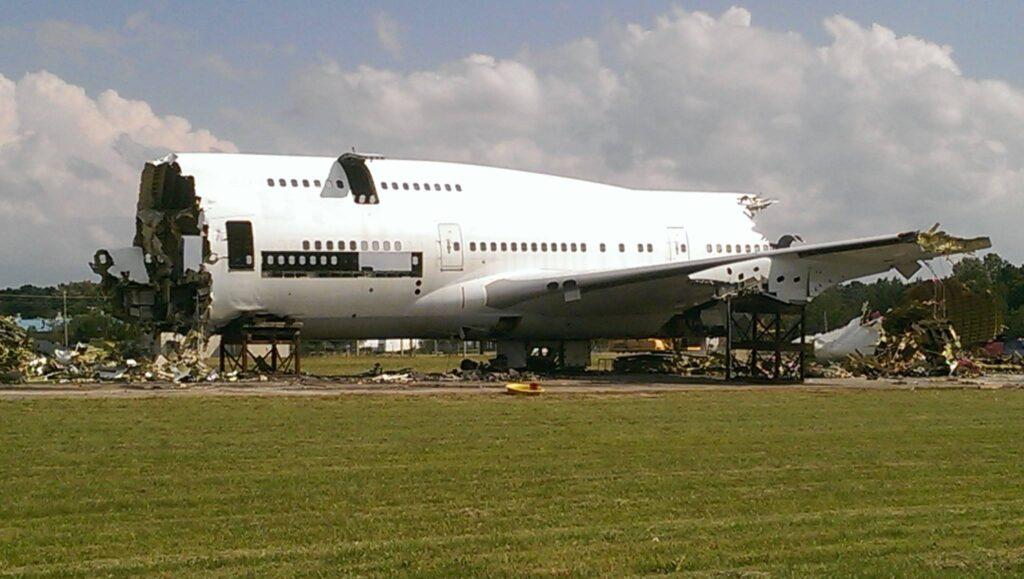Sad end to a 747